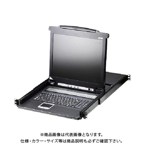 【直送品】ATEN KVMドロワー 8ポート/17インチLCD一体型/ロングレール CL1008MJJL