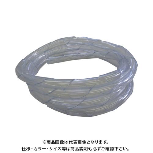 【運賃見積り】【直送品】中村工業 ワイヤロープ用クッションカバー くるっと クリア 5M C25-5