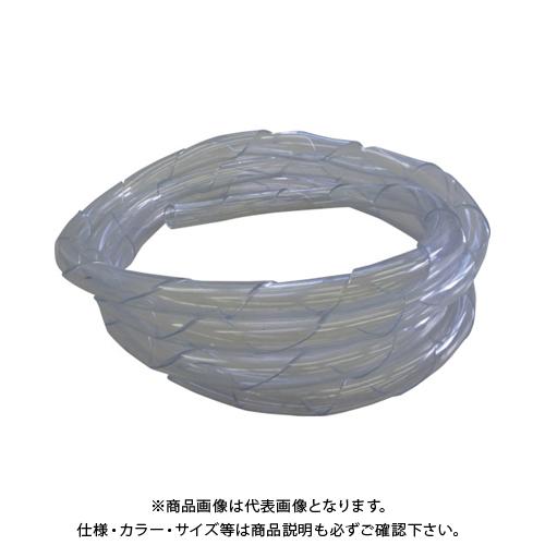 【20日限定!3エントリーでP16倍!】【運賃見積り】【直送品】中村工業 ワイヤロープ用クッションカバー くるっと クリア 5M C32-5