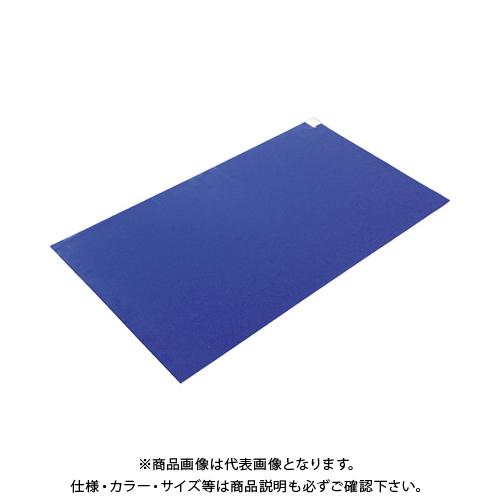TRUSCO 粘着クリーンマット 900X1200MM ブルー (10シート) CM901210-B