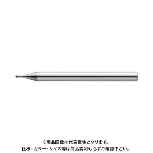 ユニオンツール 2枚刃超仕上げ加工用ロングネックボール R0.3×有効長1×刃長0.48×首径0.58 CBN-LBSF2006-010
