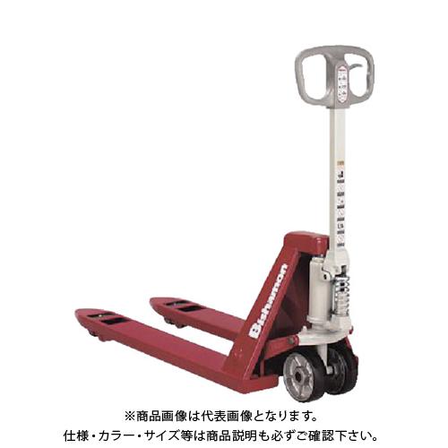 【直送品】ビシャモン ハンドパレット 低床式 均等荷重1100kg フォーク長さ1220mm BM11E-L65