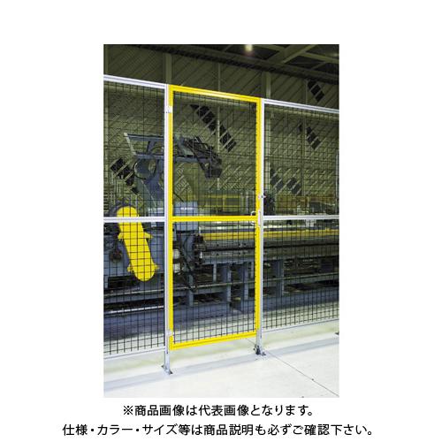 【直送品】TRUSCO アルミ安全フェンス扉 間口1000mmX高さ1800mm ピッチ30 イエロー AFT1810-Y