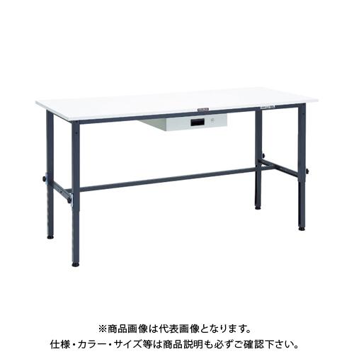 【運賃見積り】 【直送品】 TRUSCO AEM型高さ調整作業台 1800X750 薄型1段引出付 DG色 AEM-1800UDK1 DG