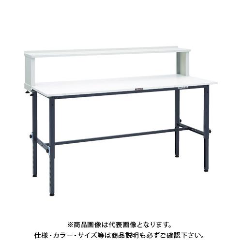 【運賃見積り】 【直送品】 TRUSCO AEM型高さ調節作業台 1800X750 上棚付 DG色 AEM-1800YURB DG