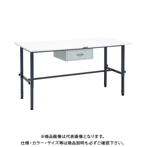 【運賃見積り】 【直送品】 TRUSCO AEM型高さ調整作業台 1800X900 1段引出付 DG色 AEM-1809F1 DG