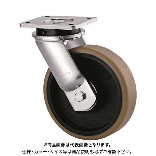 【運賃見積り】【直送品】テンテキャスター 超重荷重用キャスター(ウレタン車輪) 9650FTP250P64