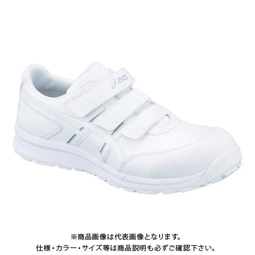 アシックス ウィンジョブCP301 ホワイトXホワイト 23.5cm FCP301.0101-23.5
