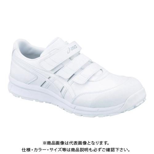 アシックス ウィンジョブCP301 ホワイトXホワイト 25.0cm FCP301.0101-25.0