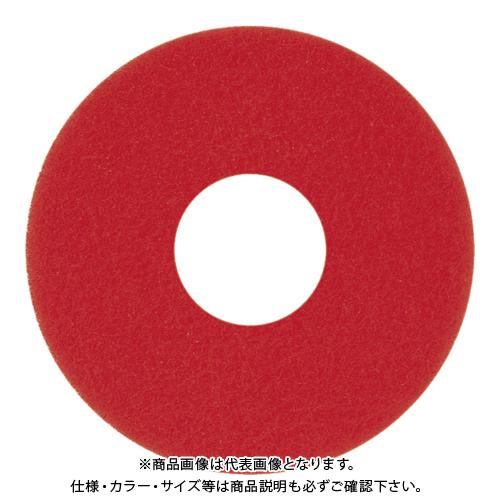 アマノ 自動床面洗浄機EG用パッド赤 17インチ 5枚 HFU202400