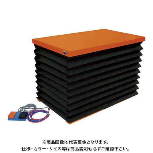 【直送品】TRUSCO テーブルリフト100kg 電動Bねじ式 DC12Vバッテリー専用 蛇腹付 520×850 HDL-L1058VJD1
