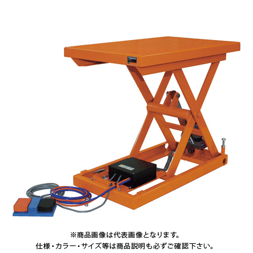 【直送品】TRUSCO テーブルリフト100kg 電動Bねじ式 DC12Vバッテリー専用 400×650 HDL-H1046V-D1