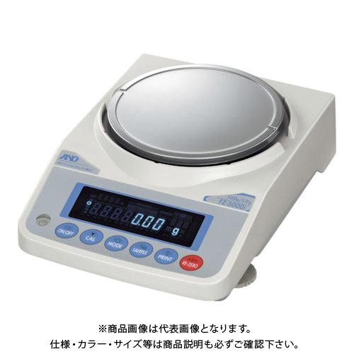 【直送品】A&D 校正用分銅内蔵汎用天びん FZ3000i JCSS校正付 FZ3000I-JA-00J00