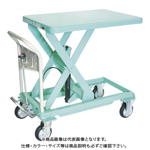 【運賃見積り】 【直送品】 TRUSCO ハンドリフター 500kg 600X900 グリーン HLFA-S500G