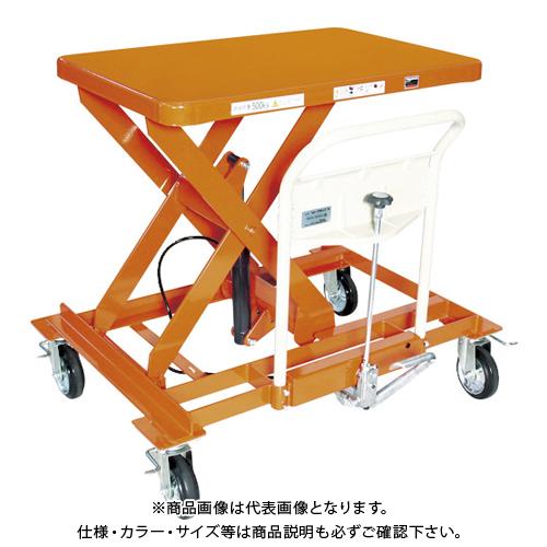 【直送品】TRUSCO ハンドリフター サイドハンドル 500kg 4輪自在 早送り無し HLFA-S500LLS-B