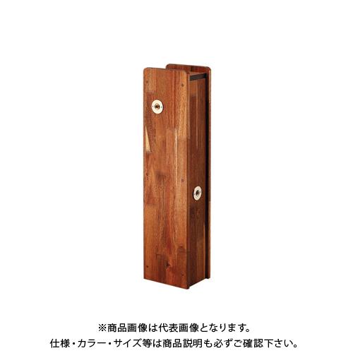 【12/5限定 ストアポイント5倍】カクダイ 角水栓柱用化粧カバー(木) 624-138