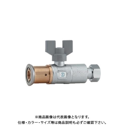 カクダイ 逆止弁つきボール止水栓(ワンタッチ) 片ナットつき 656-201-16B