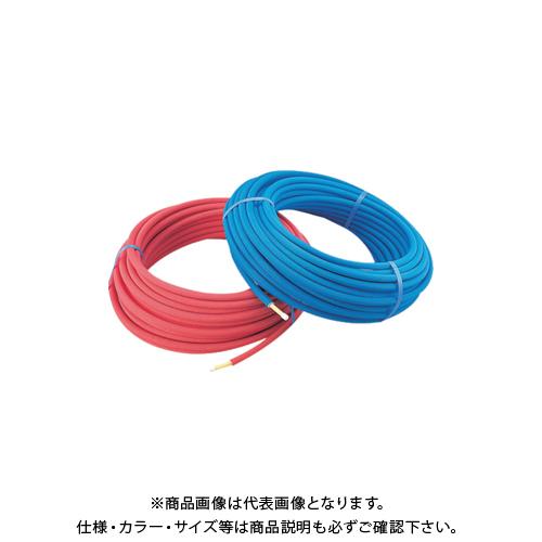 カクダイ 保温材つき架橋ポリエチレン管(青) 16A 672-112-50B