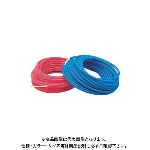 【12/5限定 ストアポイント5倍】カクダイ サヤ管つき架橋ポリエチレン管(青) 13AX22 672-132-50B