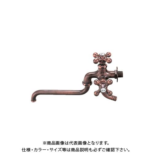 【12/5限定 ストアポイント5倍】カクダイ カラー双口自在水栓 ブロンズ 7042FBP-13