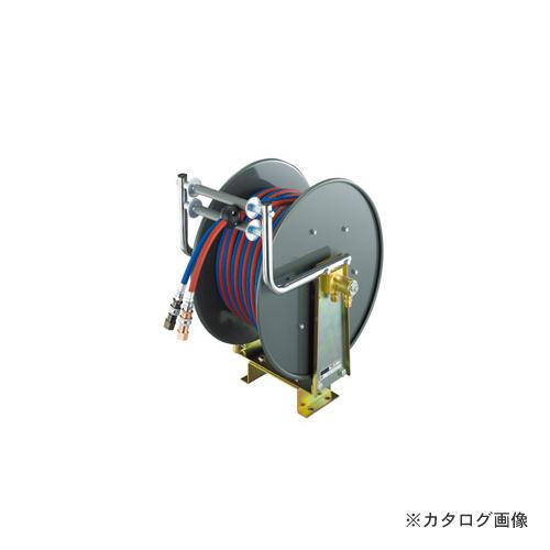 【納期約3週間】三協リール TRIENS 酸素アセチレンホース 自動巻きタイプ 5mm×20M SSR-20WS