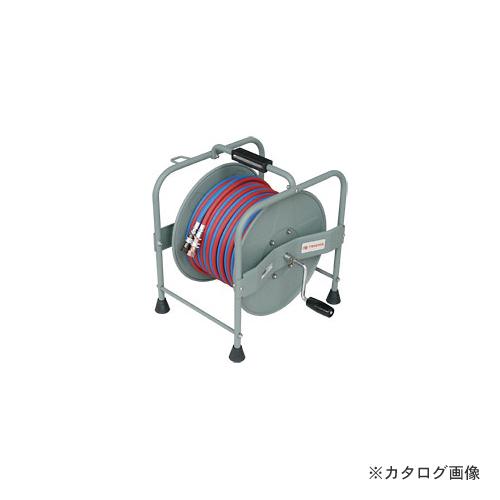 【納期約3週間】三協リール TRIENS 酸素アセチレンホース 手巻きタイプ 5mm×10M STR-10A