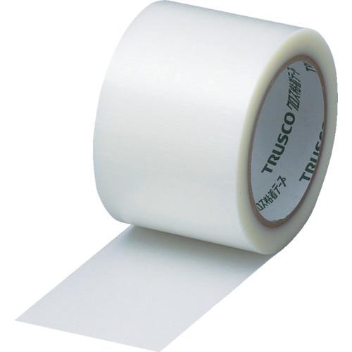 TRUSCO クロス粘着テープ 幅75mmX長さ25m クリア 透明 18巻 GCT-75:TM