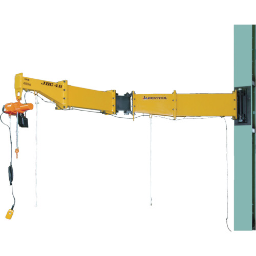 【運賃見積り】【直送品】スーパー ニ速型電動チェーンブロック付ジブクレーン ボルト・ナット型・柱取付式 JBCT1520HF