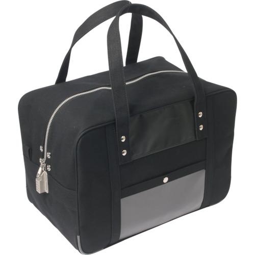 SANEI 帆布メール用ボストンMマチ広 SED-1錠付 黒 BTMDE-SED-01