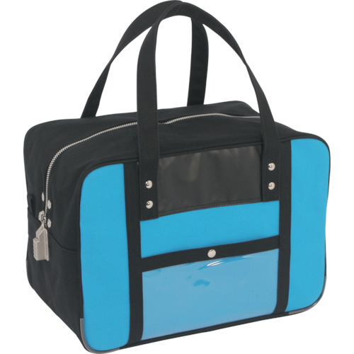 SANEI 帆布メール用ボストンMマチ広 SED-1錠付 ブルー BTMDE-SED-09