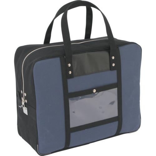SANEI 紺 帆布メール用ボストン(LL)馬蹄錠金具付 BTLL-U-03