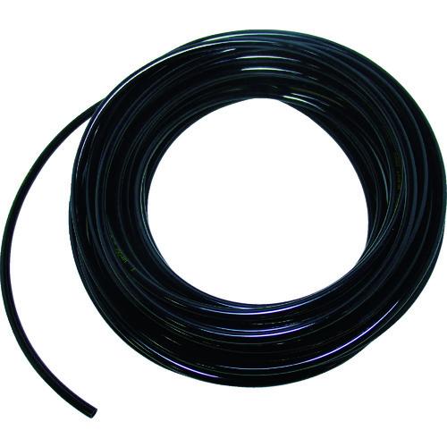 TRUSCO ウレタンチューブ 10X6.5 100M 黒 TPT-1065-100BK