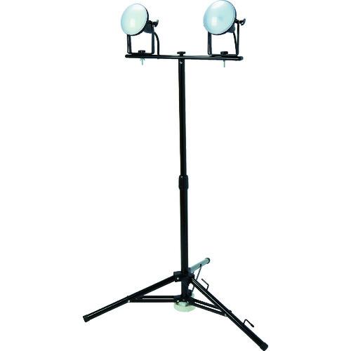 【個別送料1000円】【直送品】TRUSCO LED投光器 DELKURO 三脚タイプ 2灯 20W 10m アース付 2芯3芯両用タイプ RTLE-210EP-SK2