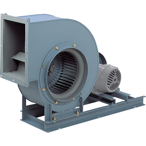 【直送品】テラル シロッコファン(多翼送風機)片吸込片持形ベルト駆動式 吐出口外径405×275mm CLF6-NO.2.5-RS-DI-E-3.7