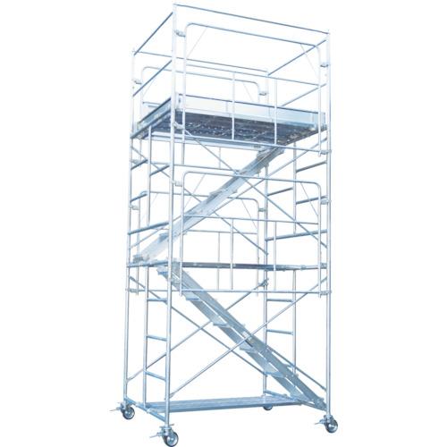 【運賃見積り】【直送品】ピカ 鋼管製移動式足場ローリングタワー内階段仕様 段数:4 RA-4UHC