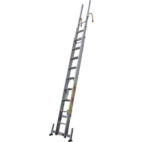 【直送品】ナカオ 3連伸縮ハシゴ レン太 9m アウトリガー 屋根上セット付 3REN-9.0Y