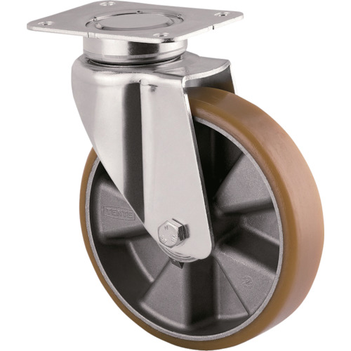 テンテキャスター 重荷重用高性能旋回キャスター(ウレタン車輪) φ125 自在式 3640ITP125P63 CONVEX