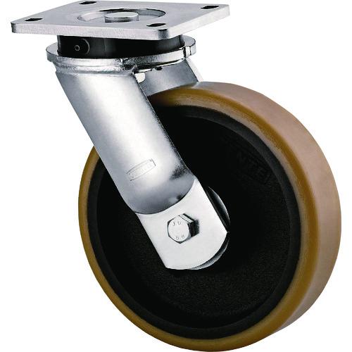 【運賃見積り】【直送品】テンテキャスター 超重荷重用キャスター(ウレタン車輪) φ200 自在式 9650FTP200P63