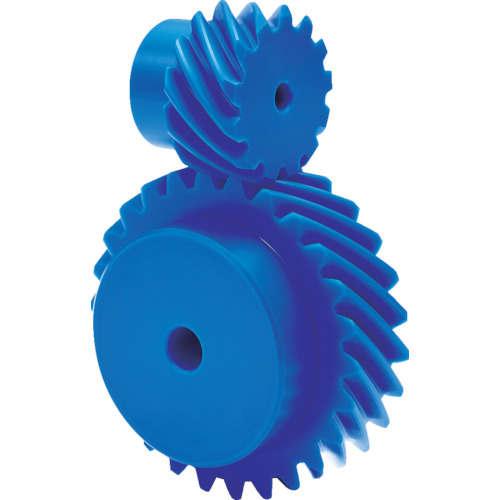 KG フードコンタクト 青POM ギヤシリーズ はすば歯車・ねじ歯車 歯数26 H2.5BP26R-B