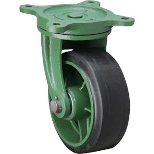 幅広型自在金具付ゴム車輪 250X75TBRB 【運賃見積り】【直送品】東北車輛製造所 250X75