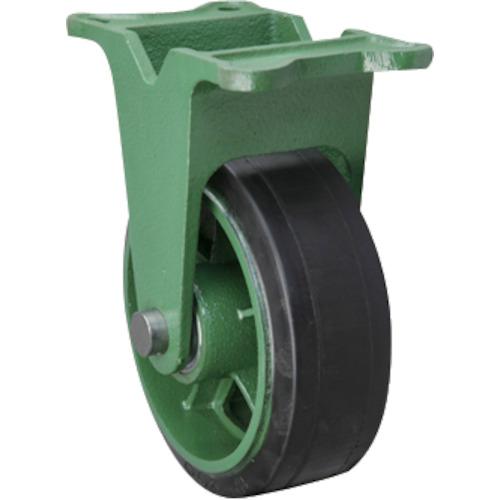 【運賃見積り】【直送品】東北車輛製造所 幅広型固定金具付ゴム車輪 150X75 150X75TKB