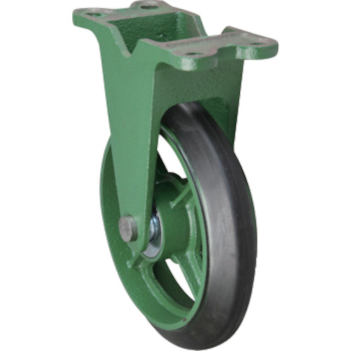 【運賃見積り】【直送品】東北車輛製造所 標準型固定金具付ゴム車輪 300 300KB