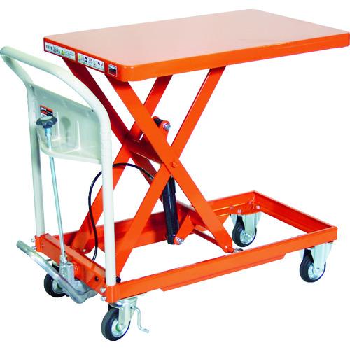 【個別送料1000円】【直送品】TRUSCO ハンドリフタ 250kg 500X800 オレンジ HLFA-S250
