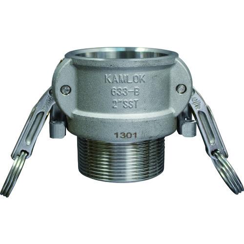 トヨックス カムロック ツインロックタイプカプラー オネジ ステンレス 1/2インチ SST 633-BBL 1/2 SST