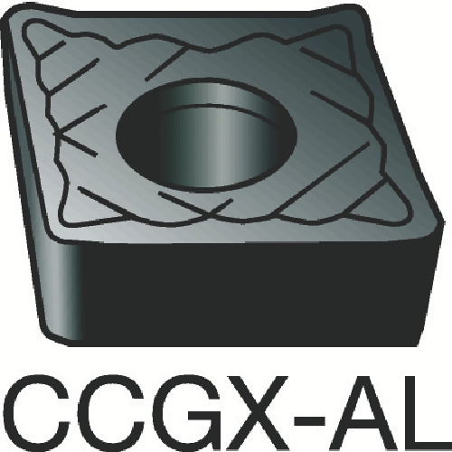 サンドビック コロターン107 旋削用ポジ・チップ H10 10個 CCGX 12 04 04-AL:H10