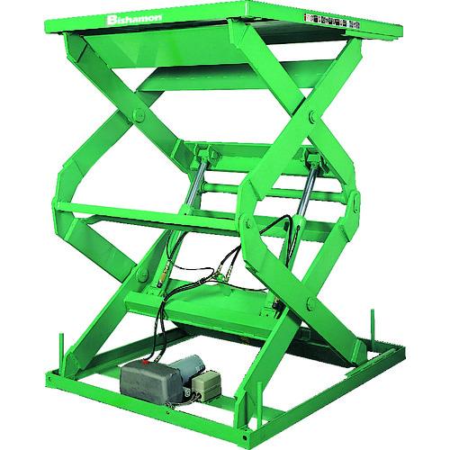 【運賃見積り】【直送品】ビシャモン テーブルリフト 1TON 均等荷重1000kg 揚程900mm 2X10607B