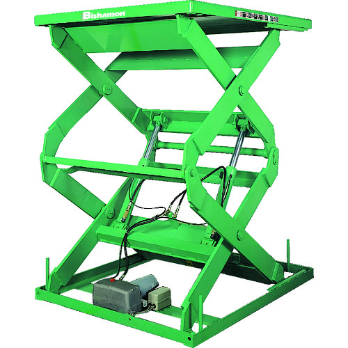 【運賃見積り】【直送品】ビシャモン テーブルリフト 1TON 均等荷重1000kg 揚程1800mm 2X10614B