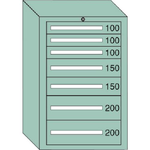 【直送品】OS 中量キャビネット 間口693×奥行557×高さ1081mm 6-1007