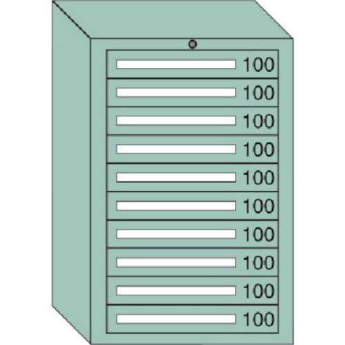 【直送品】OS 中量キャビネット 間口693×奥行557×高さ1081mm 6-1001