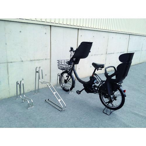 【運賃見積り】【直送品】ダイケン 平置き自転車ラック独立式サイクルスタンド スタンド高タイプ CS-GU1B-S